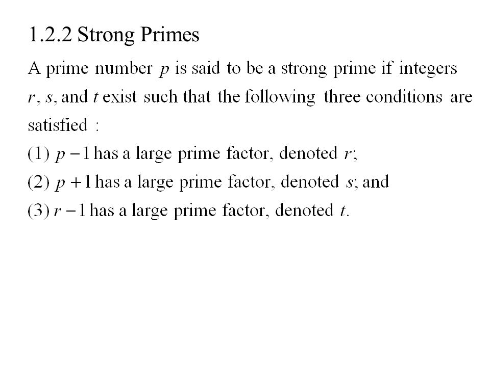 1.2.2 Strong Primes