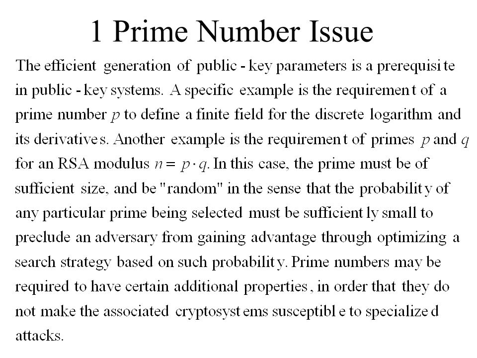 1 Prime Number Issue