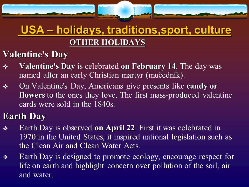 Způsob využití: Způsob využití: určeno pro výklad a procvičení základních znalostí o svátcích a tradicích, sportu a kultuře Spojených států amerických