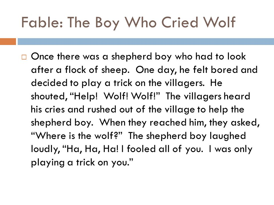Fable: The Boy Who Cried Wolf  Once there was a viz expert who had to look after customers.