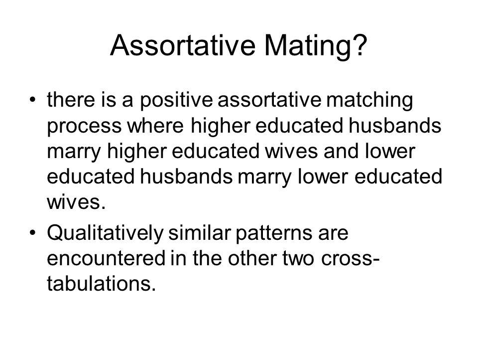 Assortative Mating.