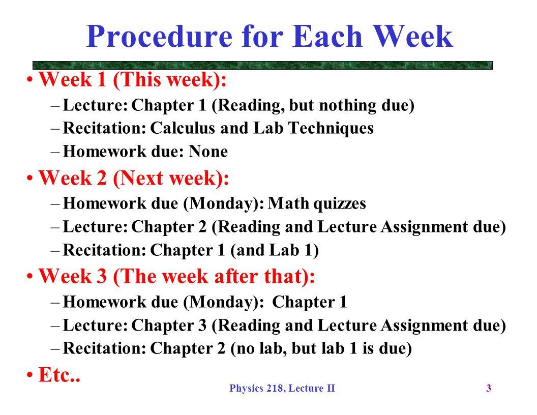 Physics 218, Lecture II34 Where am I.