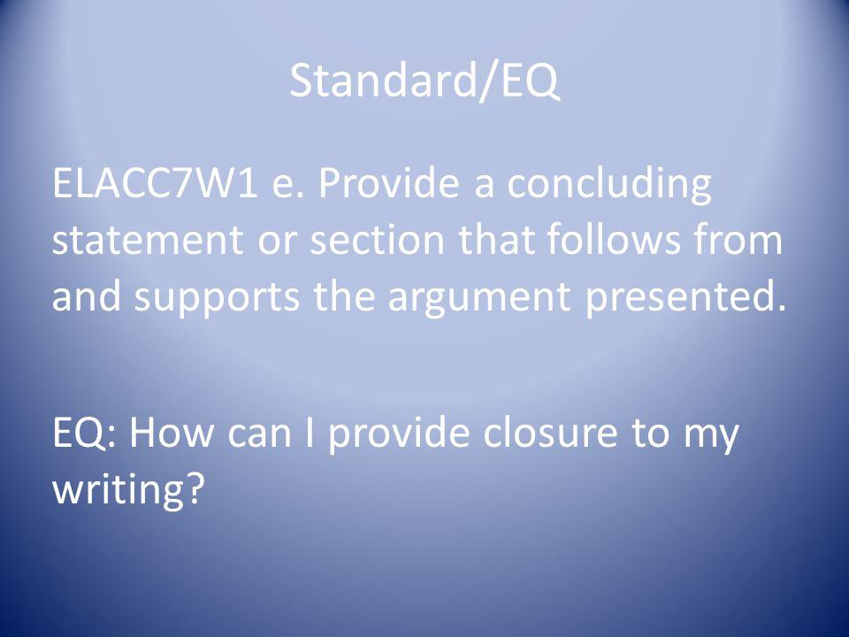 Standard/EQ ELACC7W1 e.