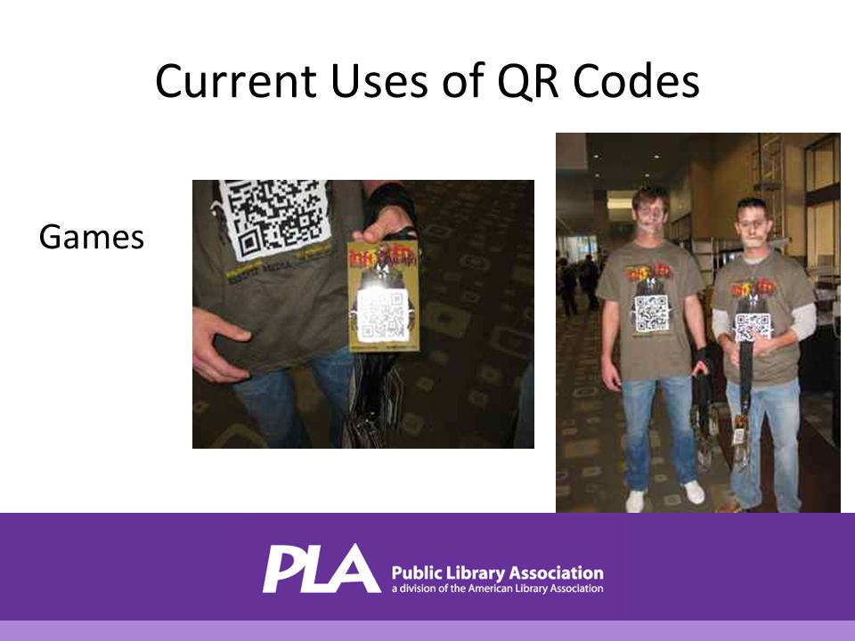 Current Uses of QR Codes Games