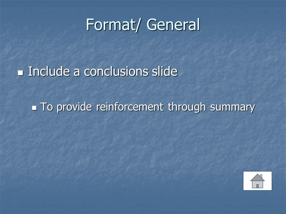 Format/ General Use external and internal links Use external and internal links To demonstrate the content of your presentation To demonstrate the content of your presentation To break the linearity of PowerPoint To break the linearity of PowerPoint