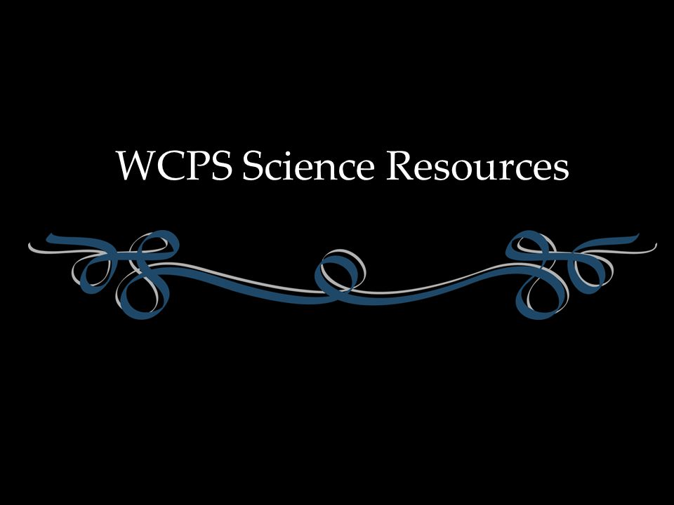 WCPS Science Resources