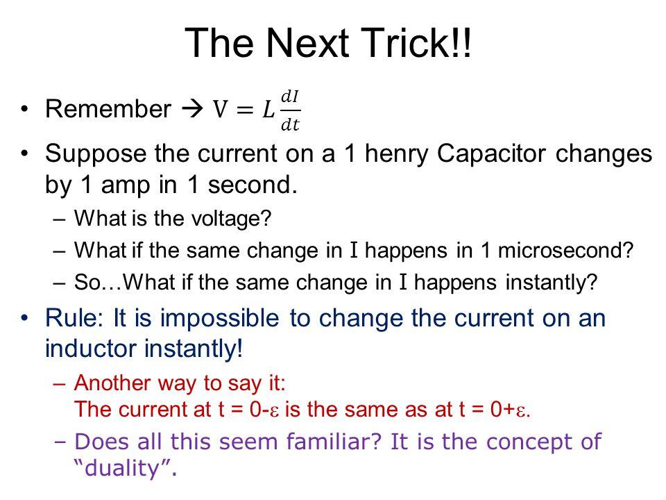 The Next Trick!!