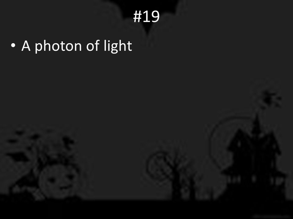 #19 A photon of light