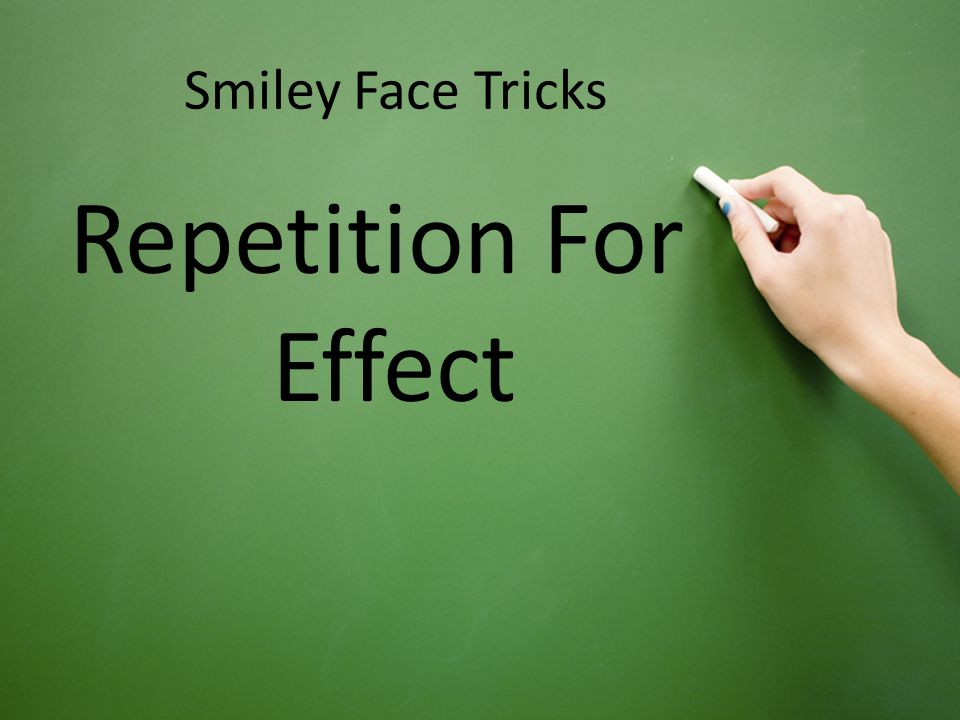 Repeating specifically chosen words or phrases to make a point To stress certain ideas for the readers