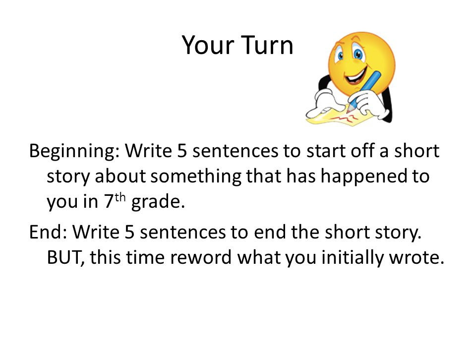 The End Go forth and improve your writing!!