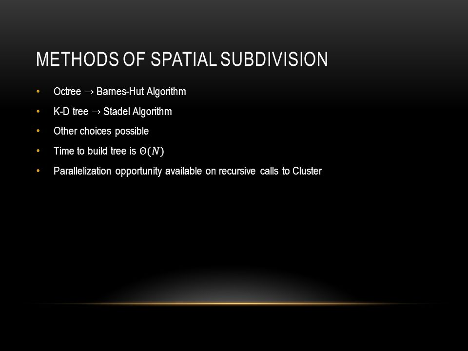 METHODS OF SPATIAL SUBDIVISION