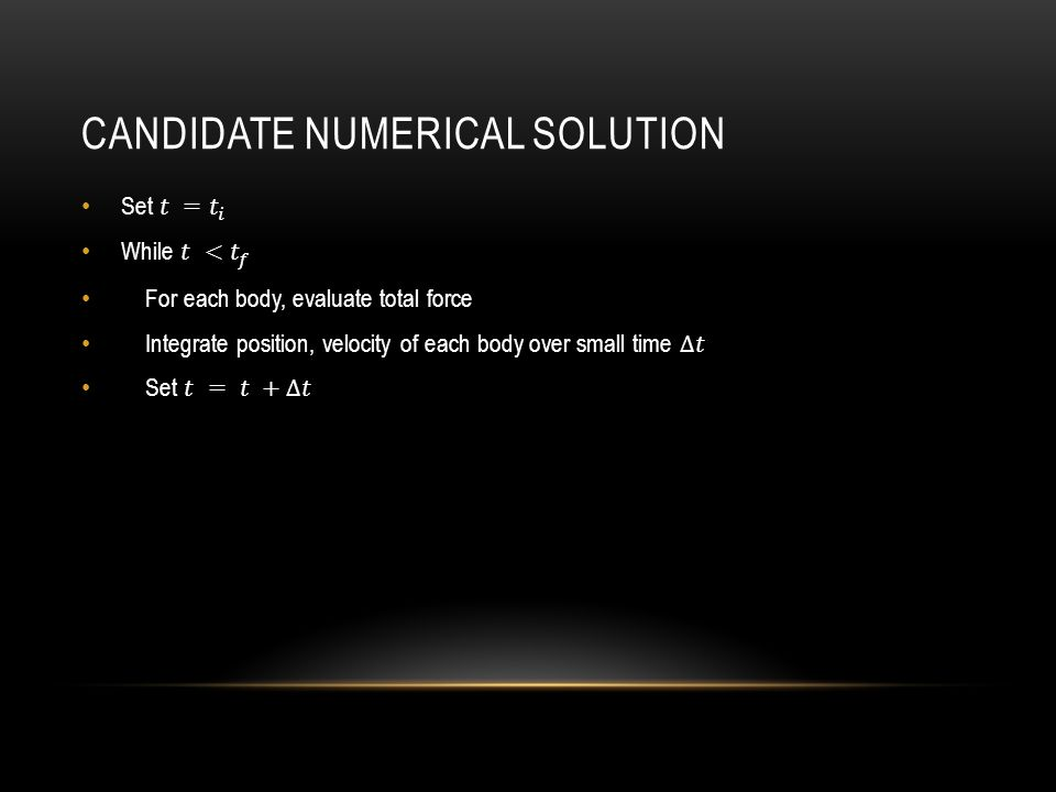 CANDIDATE NUMERICAL SOLUTION
