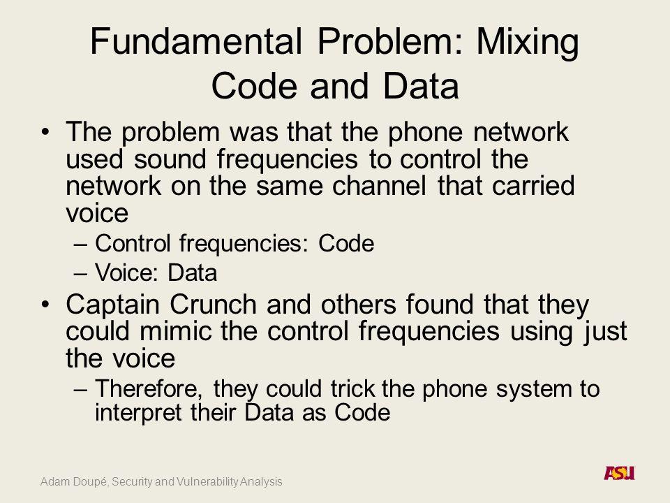 Adam Doupé, Security and Vulnerability Analysis Reflected XSS http://example.com?name=adam Hello adam Doupé - 4/23/12