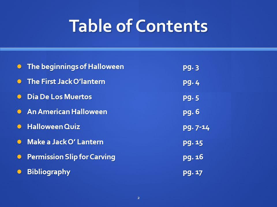 Halloween October 31st 1