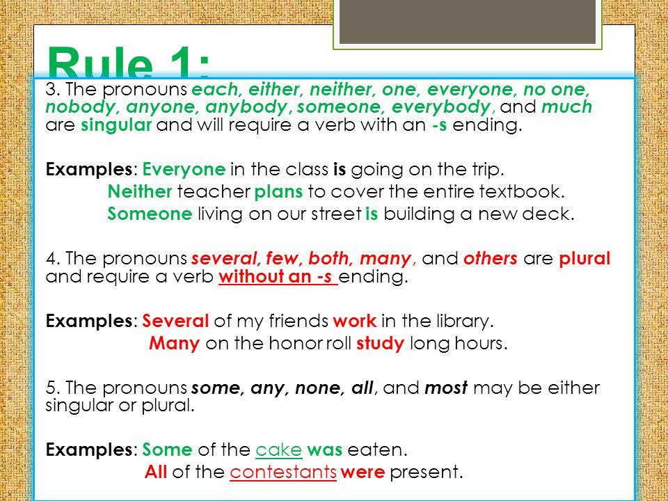 Rule 1: 3.