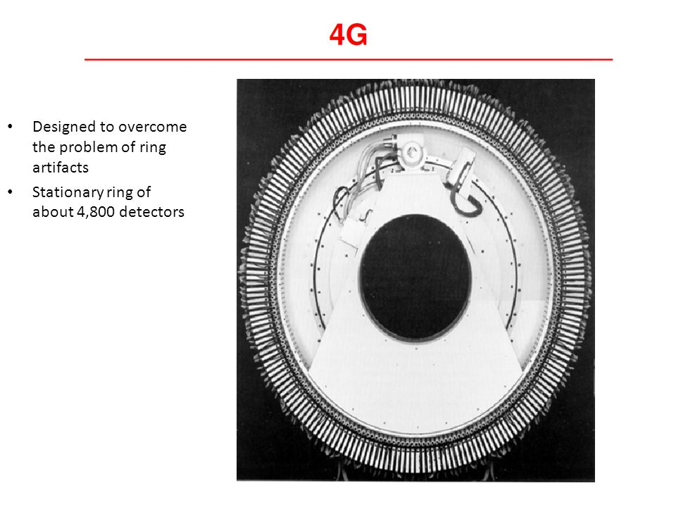Designed to overcome the problem of ring artifacts Stationary ring of about 4,800 detectors
