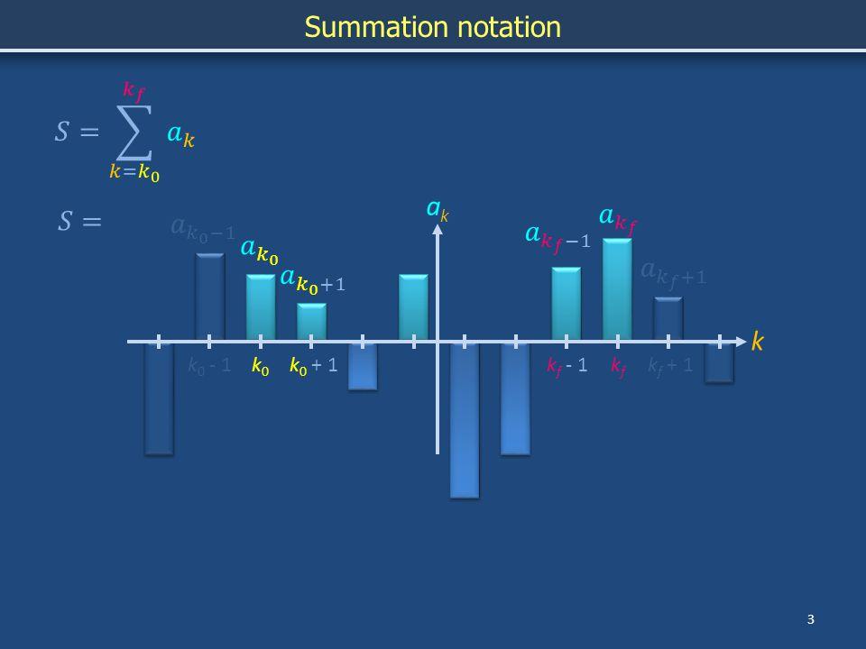 4 Summation notation