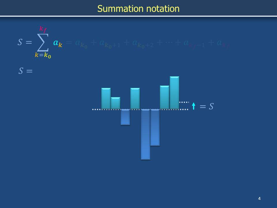 Summation 5 Summation notation Geometric seriesHarmonic series Gauss summation trick (r < 1)