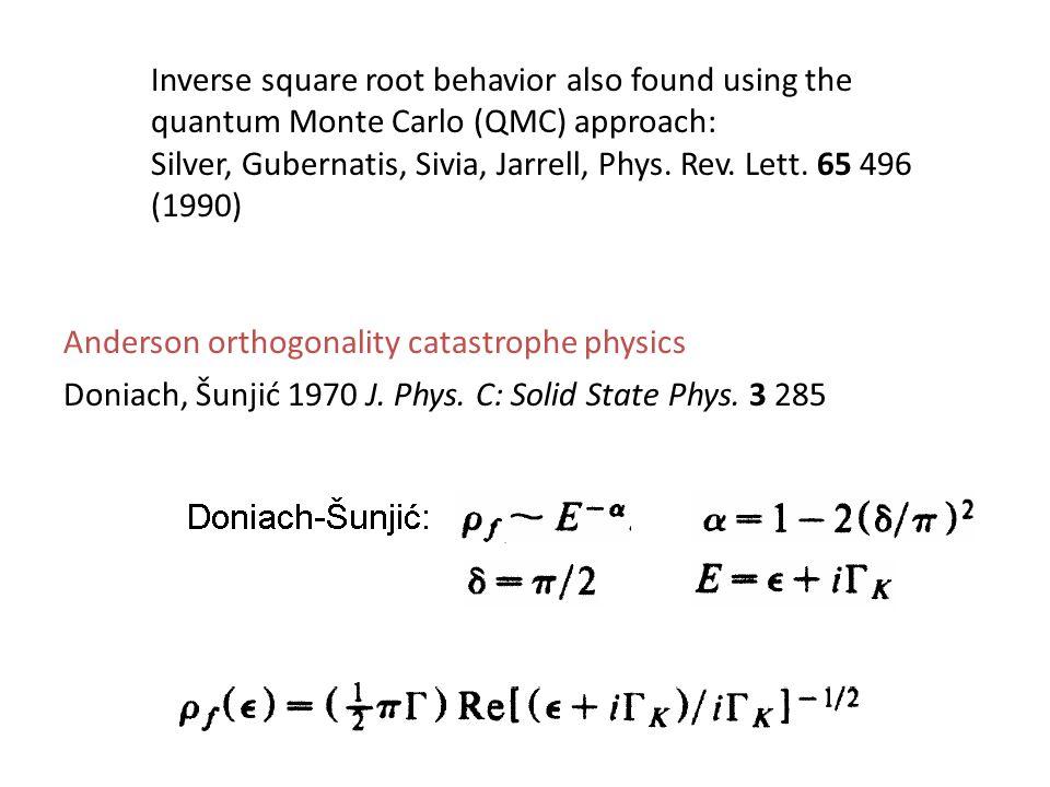 Doniach, Šunjić 1970 J. Phys. C: Solid State Phys.