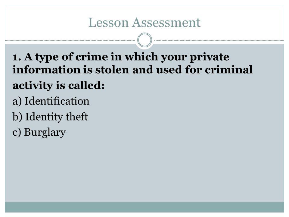 Lesson Assessment 1.