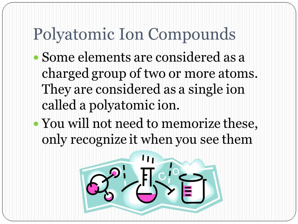 Examples iron (III) chloride copper (II) oxide iron (III) oxide silver (I) sulfide