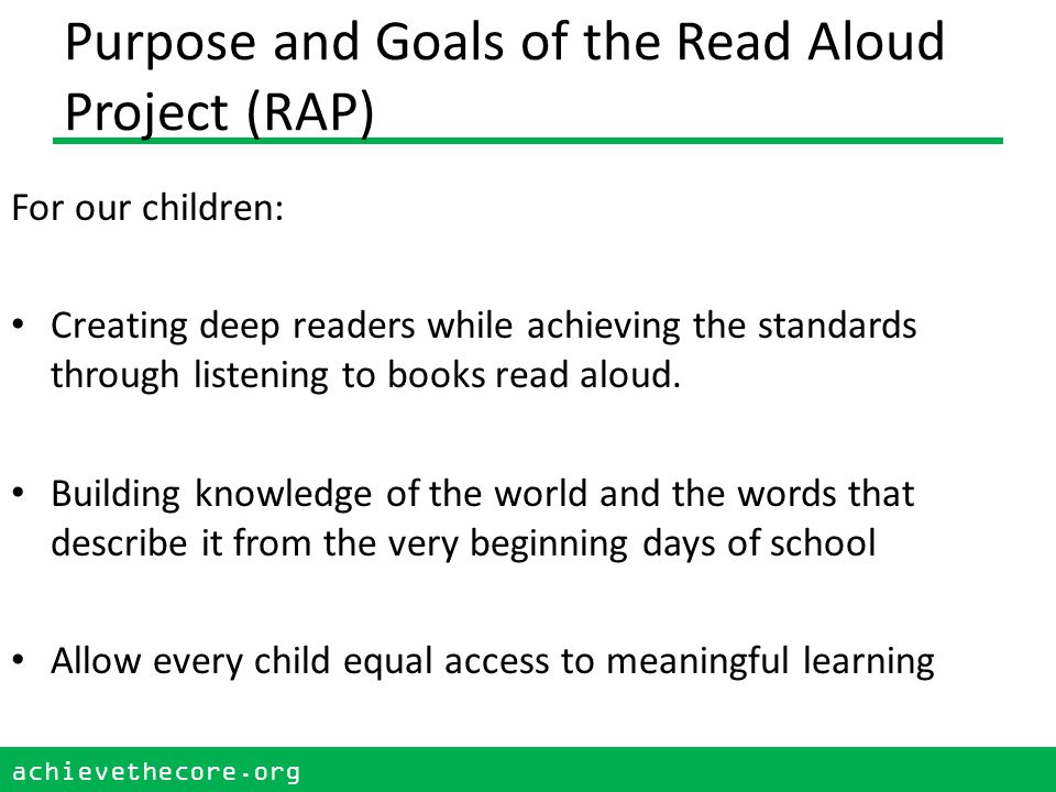 achievethecore.org 44 achievethecore.org 44 Continue rereading, in short sessions, supporting comprehension using text dependent questions and activities.