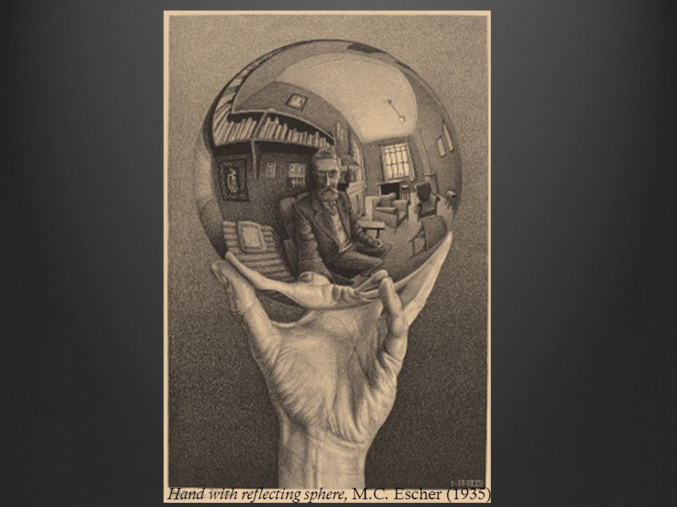 Hand with reflecting sphere, M.C. Escher (1935)