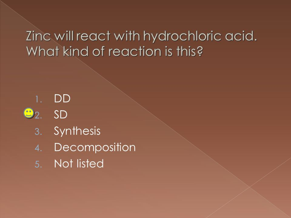 1. DD 2. SD 3. Synthesis 4. Decomposition 5. Not listed