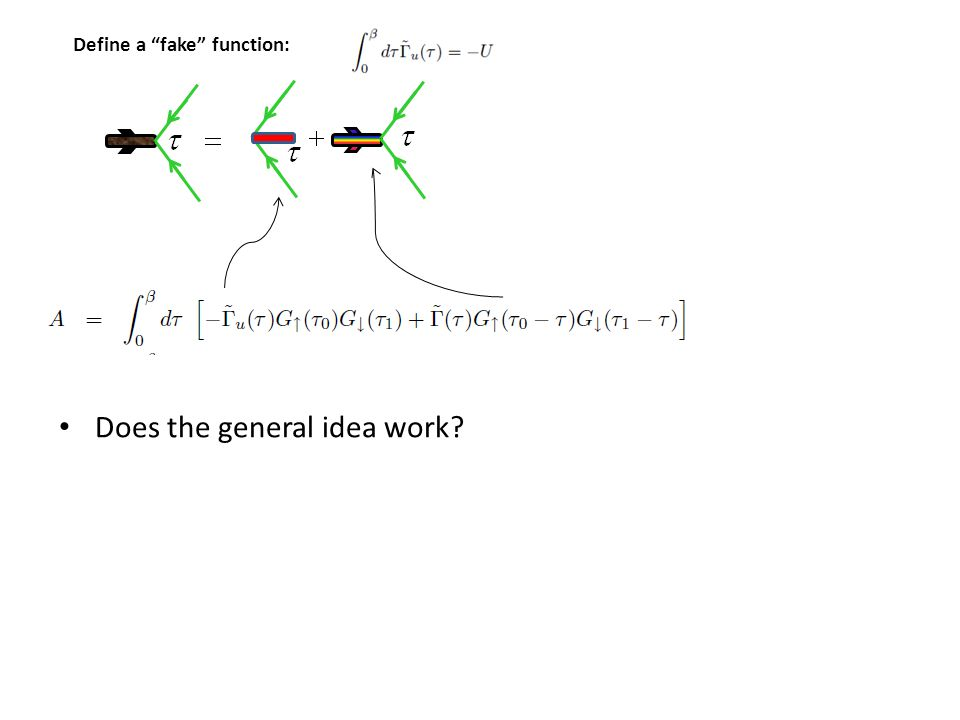 Define a fake function: Does the general idea work?