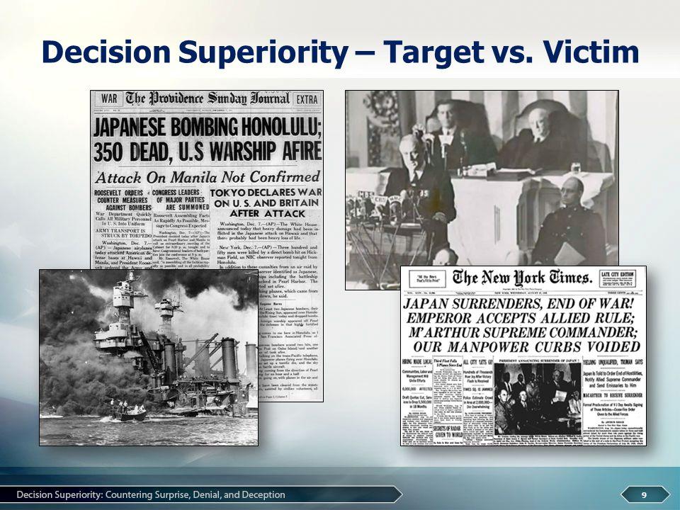 Decision Superiority – Target vs. Victim 9