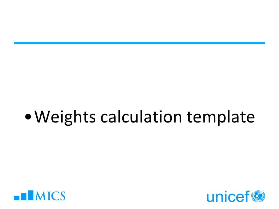 Weights calculation template