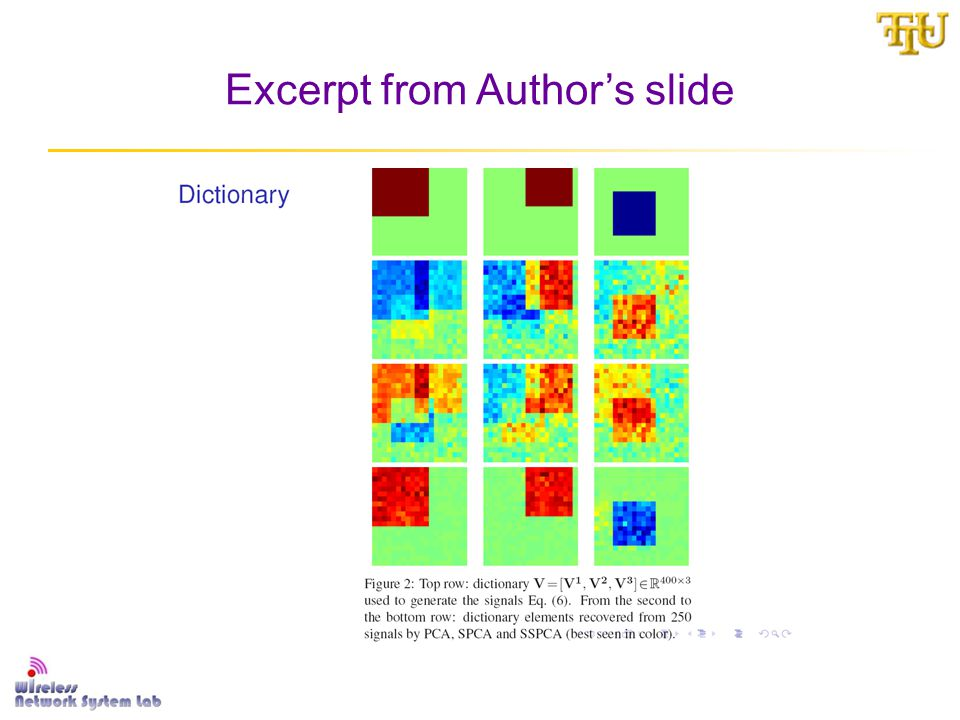 Excerpt from Author's slide