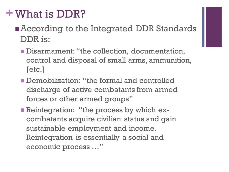 + What is DDR.