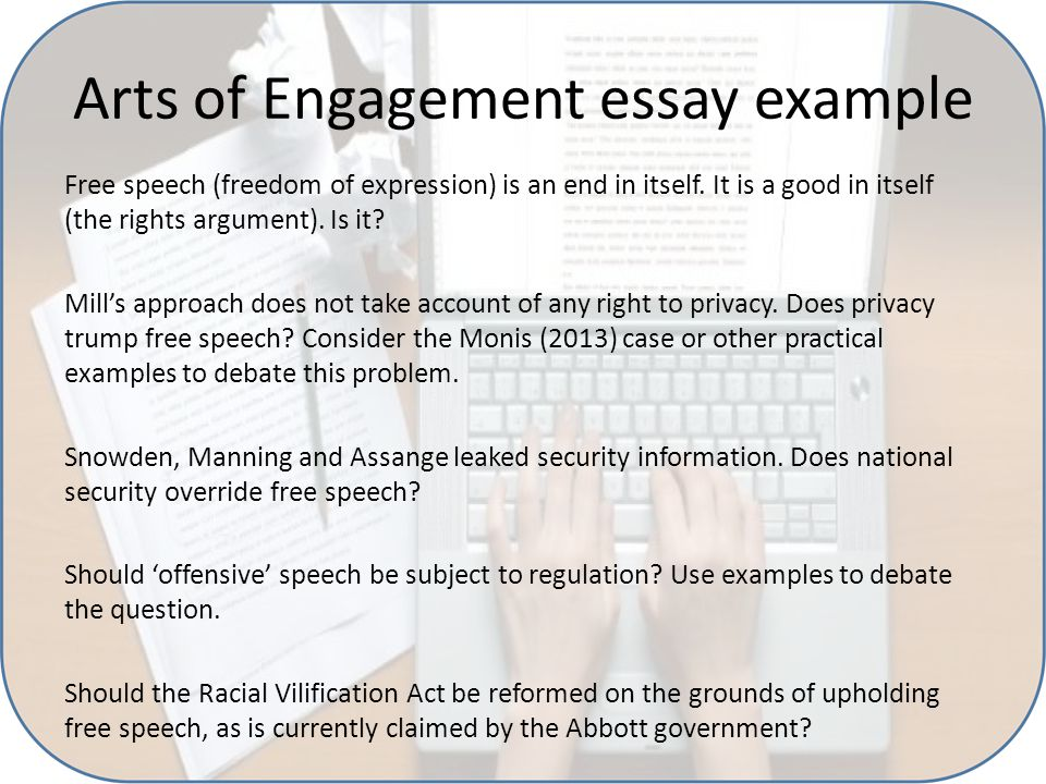 Arts of Engagement essay instructions: From the course guide: Note that some of these topics require you to choose a contemporary or historical examples, which may be Australian-based or based elsewhere or international in orientation.