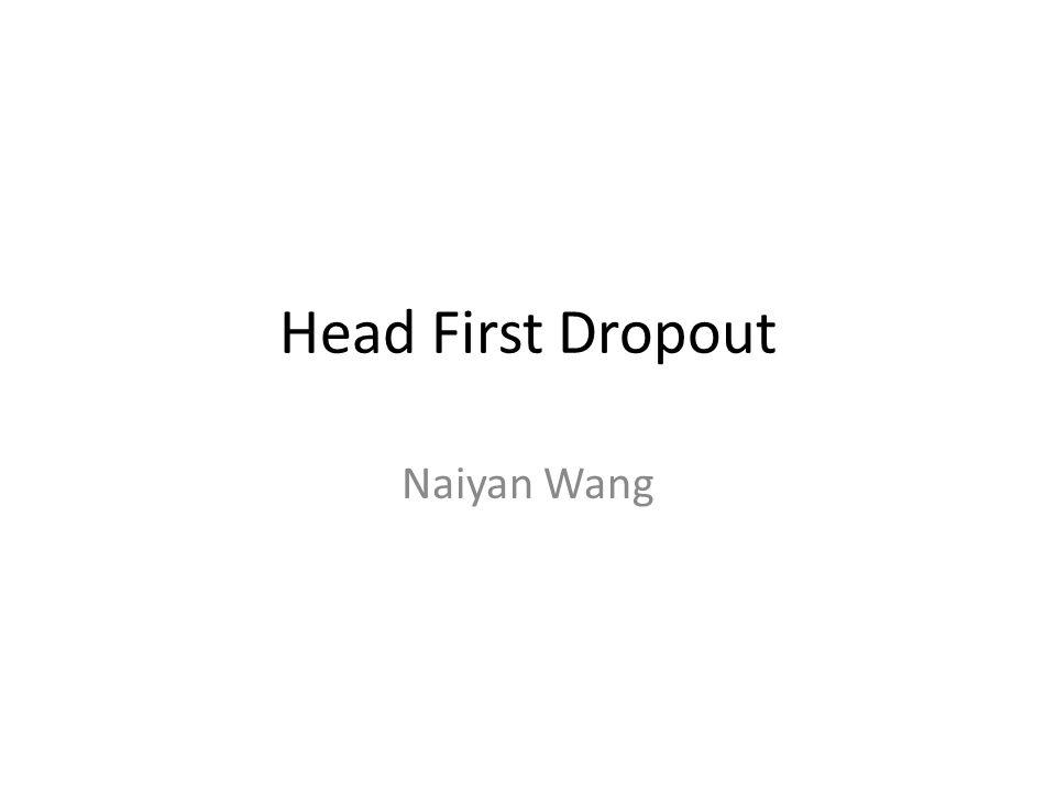 Head First Dropout Naiyan Wang