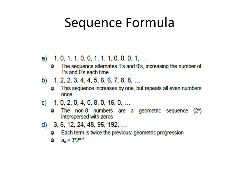 Sequence Formula