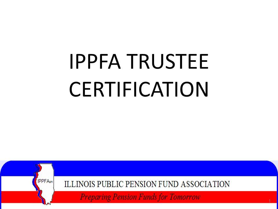 IPPFA TRUSTEE CERTIFICATION 1 1