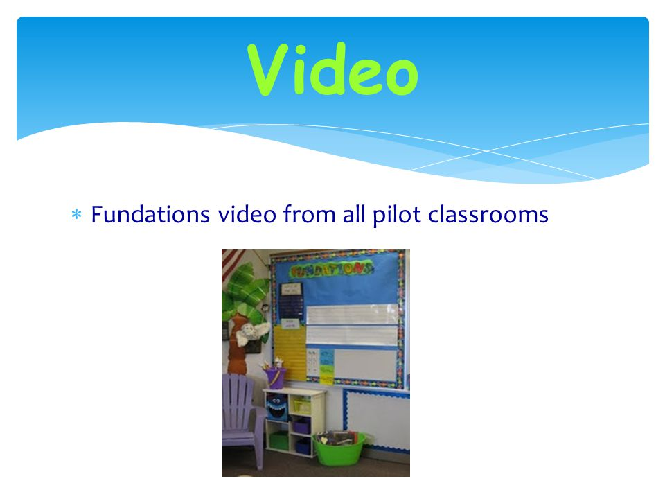 Materials  View classroom set up of Fundations  Posters  Pocket chart/stand  Using cards on magnetic tape  Alphabet chart  Word of the day  Tri
