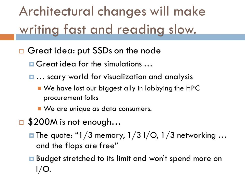 Architectural changes will make writing fast and reading slow.