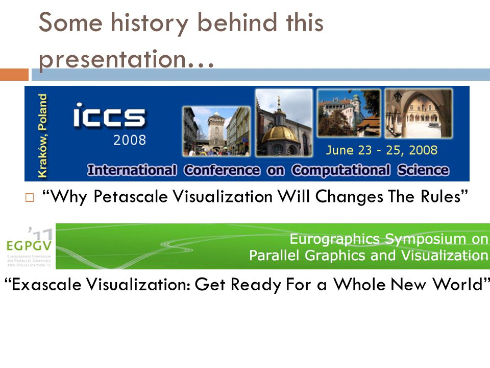 Production visualization tools use pure parallelism to process data.