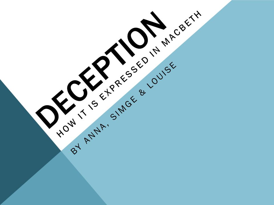 Deception Essay