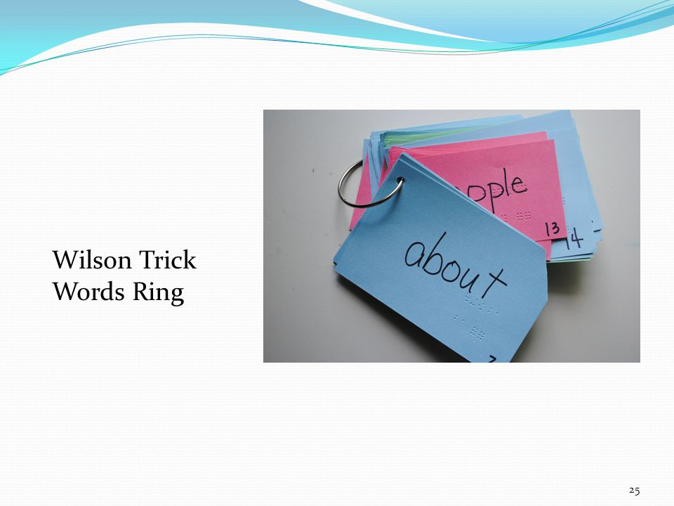 Wilson Trick Words Ring 25