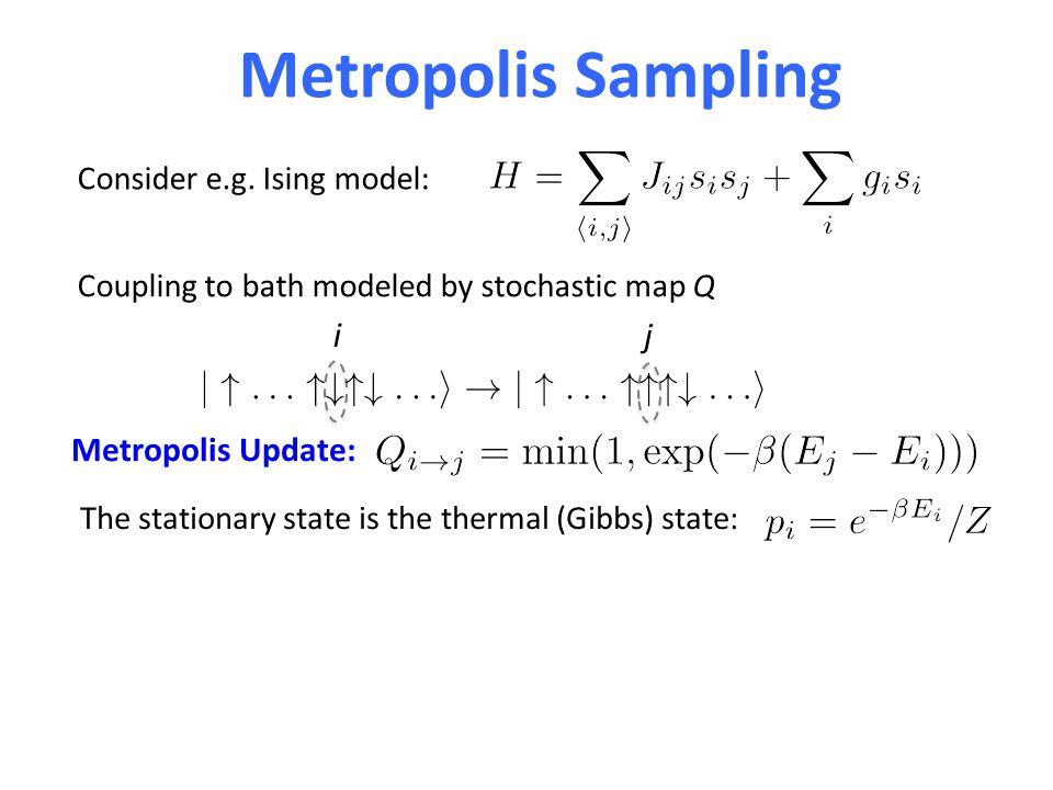 Metropolis Sampling Consider e.g.