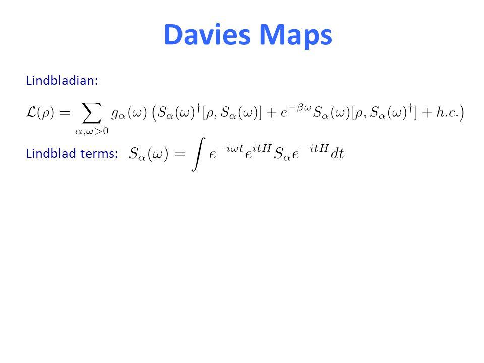 Davies Maps Lindbladian: Lindblad terms: