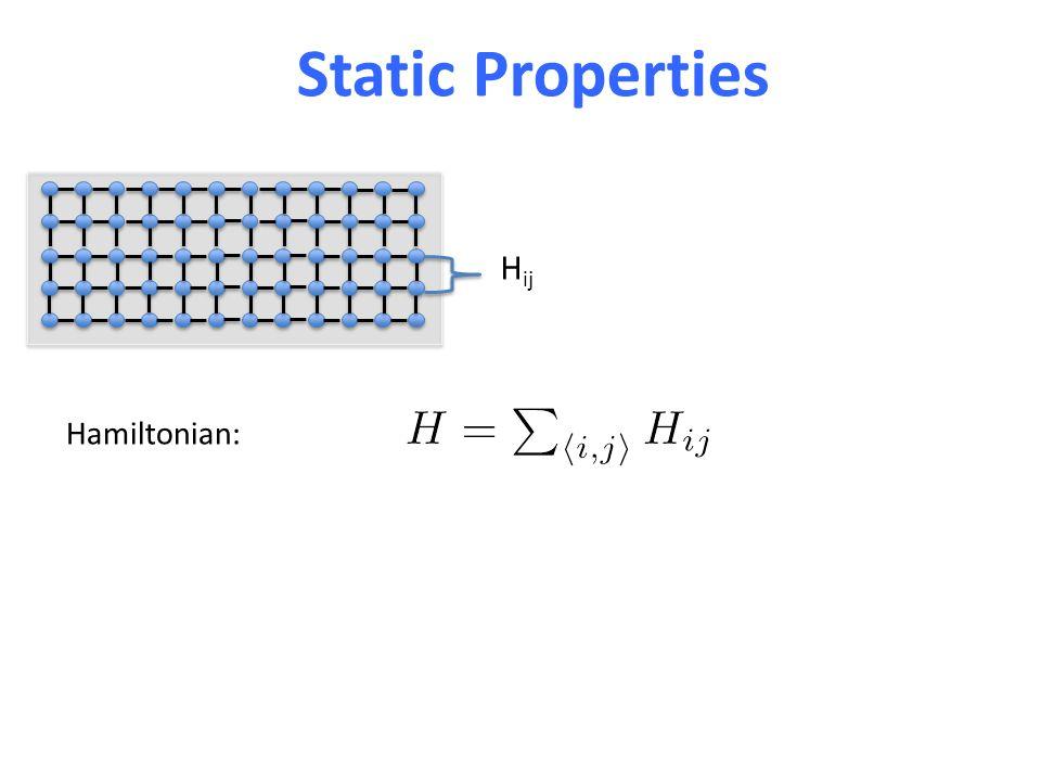 Hamiltonian: Static Properties H ij
