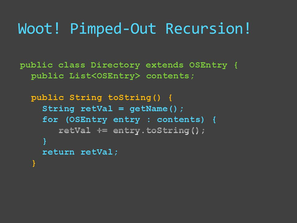 Woot! Pimped-Out Recursion!