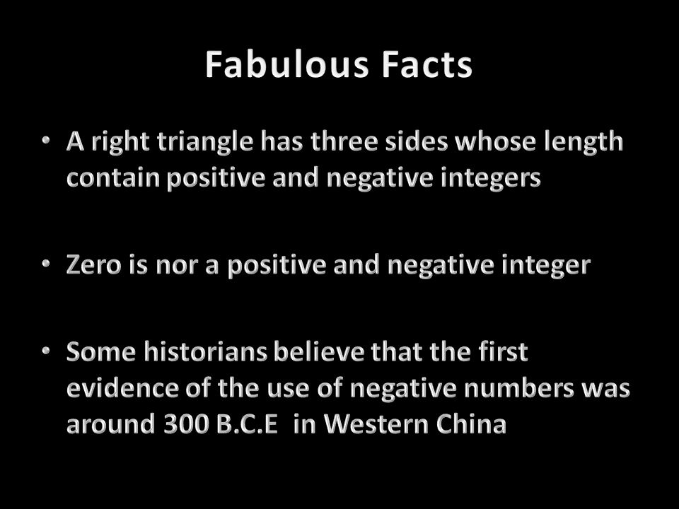 Integer fun facts! Created by Akshaj, Yuvraj, Mehul, and Andrew.