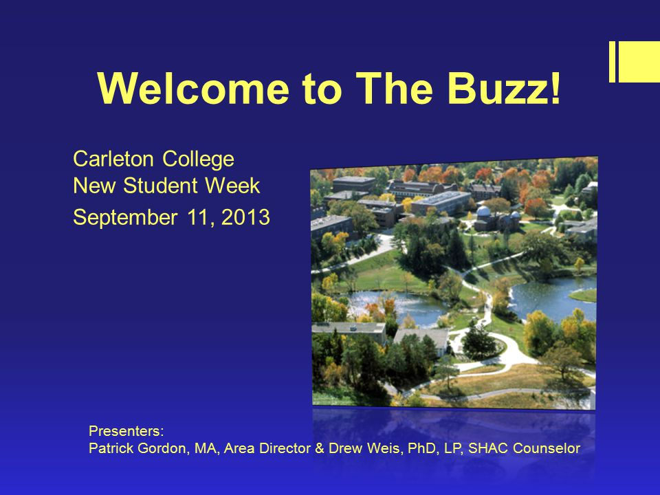 Welcome to The Buzz.