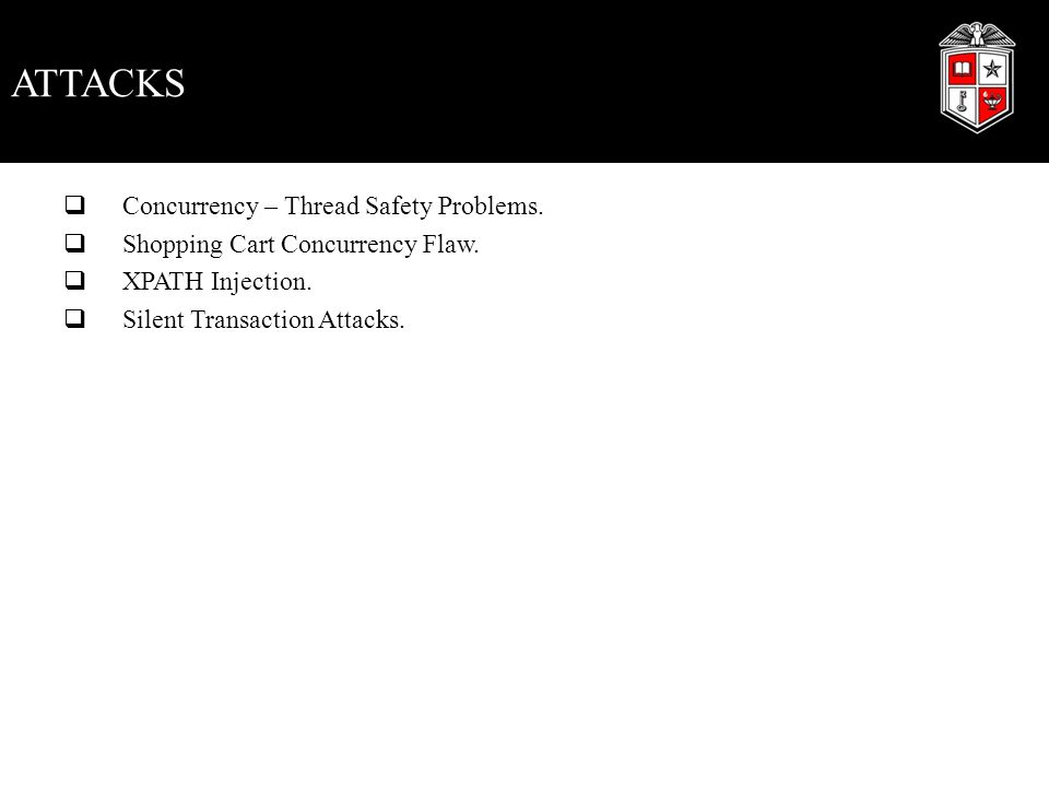 Concurrency – Thread Safety Problems.Web applications can handle many HTTP requests concurrently.