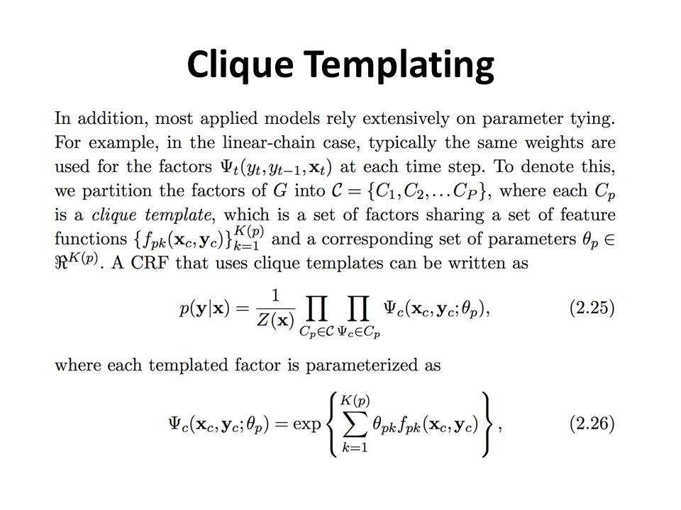 Clique Templating